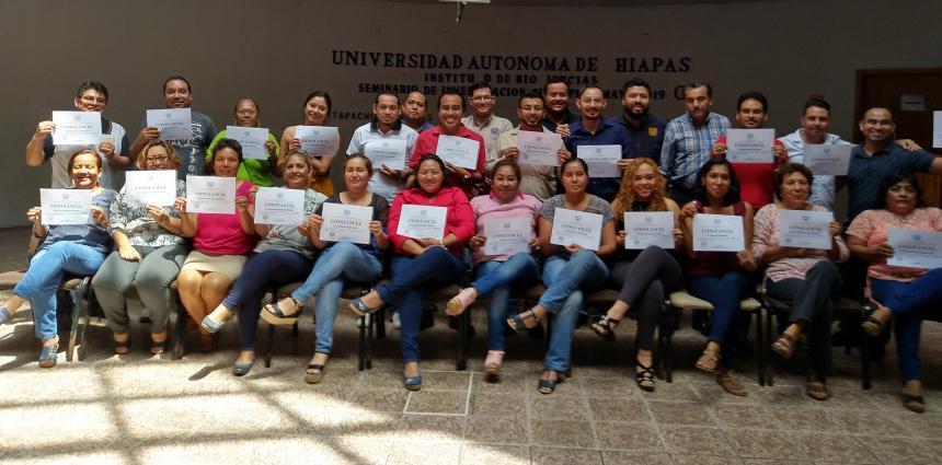 Clausura del curso Administración efectiva del tiempo en Tapachula