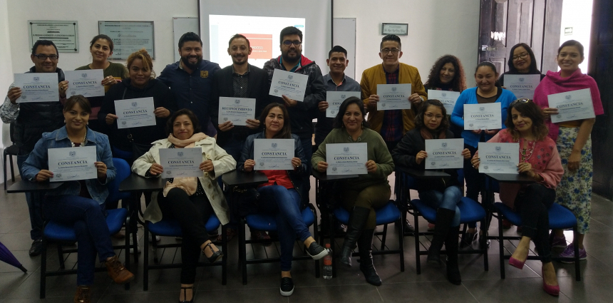 Clausura del curso Administración efectiva del tiempo y productividad en San Cristóbal de las Casas
